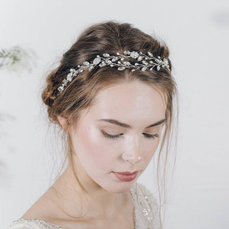 Bohemian Bridal Headband Or Wedding Browband Isadora