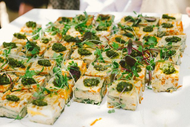 Delicious canapes -Pumpkin and Goats Cheese Fritata  Photography : Ricky Fung