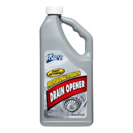 First Force Professional Strength Drain Opener, 32 Oz, White