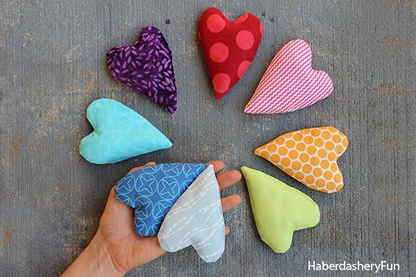 Make mini heart shaped hand warmers for the loved ones in your life.