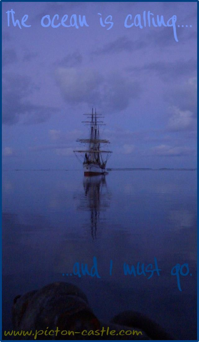 The ocean is calling ... #sail #ships #sea #ocean #world #discover #tallship #sailing #pictoncastle #quotes