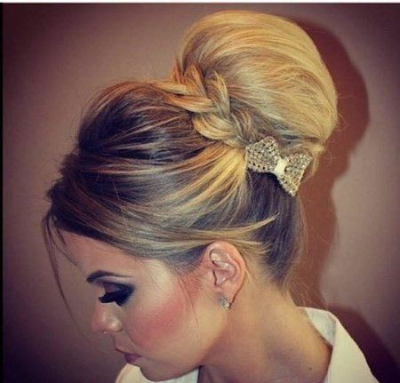 http://beautyand-a-bitch.tumblr.com/post/106913308457  I love the braided wrap around with a small bow. Cute idea.