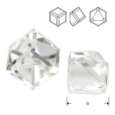 4841 Cube 6mm Crystal CAVZ  Dimensions: 6mm Colour: Crystal CAVZ 1 package = 1 piece