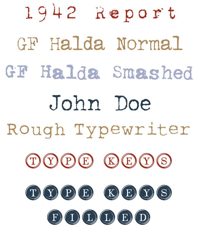 Typewriter Fonts | inspiration | Pinterest