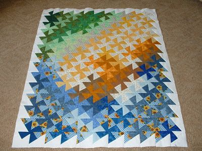 I just finished (almost) a Square Dance quilt top. I just have to add a border, quilt it up, and send it away to my mom.  Isn't it amazin...