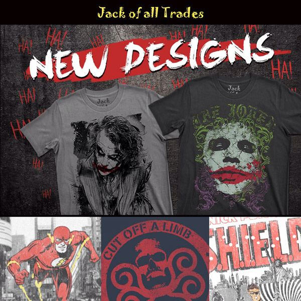 New designs just for you! Check them all out for your viewing and wearing pleasure! www.jackofalltrades.clothing