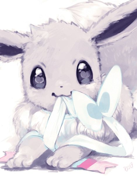 I've never seen Eevee look so cute•3•