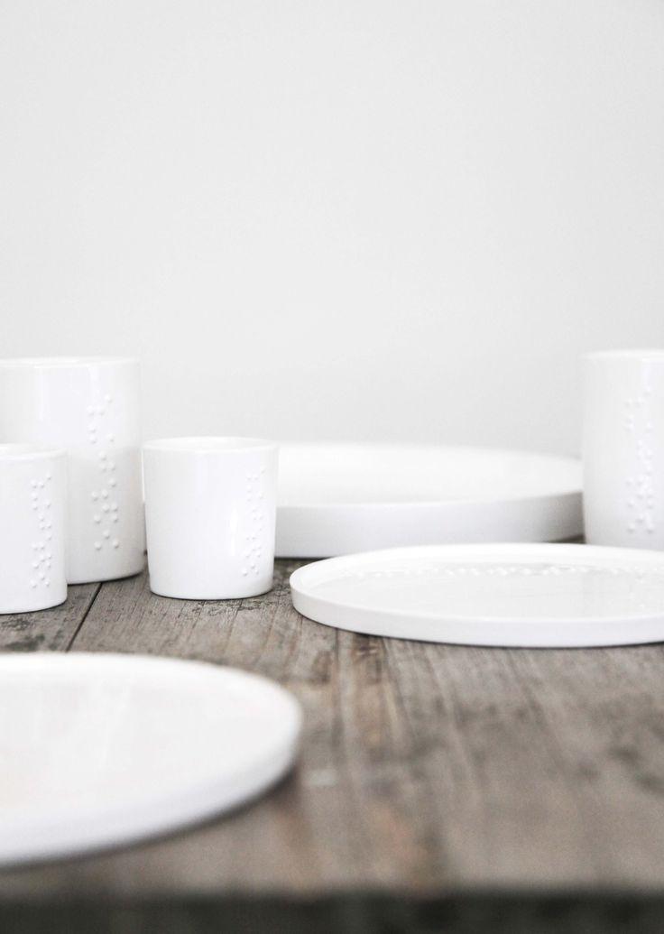 white tableware