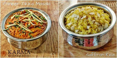 Today's Special #PaneerTikka Masala with #SaffronRice) Karma Restaurant :) http://www.restauracjakarma.pl/ :) +48 501 400 386