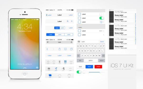 really cool ios7 ui kit.  #ios7 #ui #kit #iphone #interface