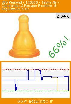 dBb Remond - 140000 - Tétine Nn - Caoutchouc à Perçage Excentré et Régulateurs d'air (Puériculture). Réduction de 66%! Prix actuel 2,04 €, l'ancien prix était de 6,00 €. http://www.adquisitio.fr/dbb-remond/140000-t%C3%A9tine-nn