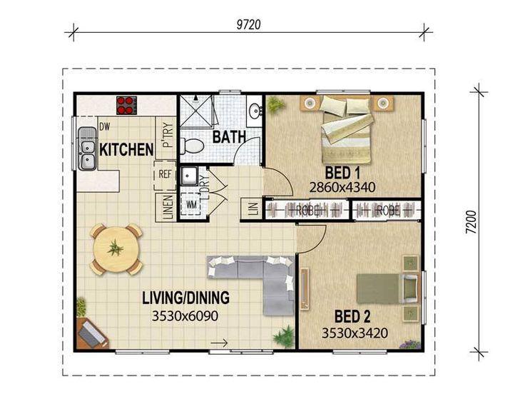 12 besten bungalow grundrisse bilder auf pinterest for Smallhouse weberhaus
