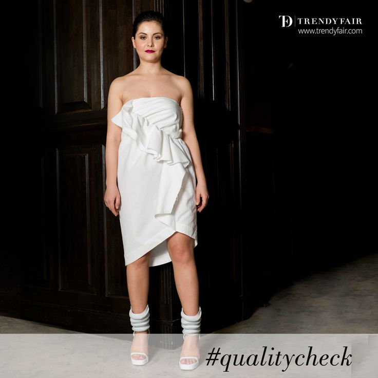 On Trendy Fair, we take great care of the quality check process  Thakoon dress, Rick Owens sandals