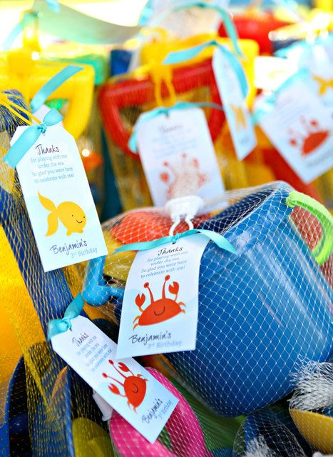 Fun party favors at an Under the Sea Birthday Party!  See more party ideas at CatchMyParty.com!