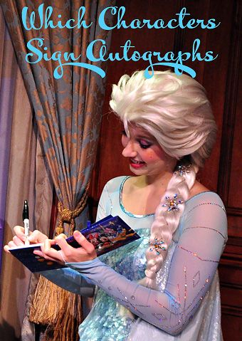 Which Characters Sign Autographs | Capturing Magic