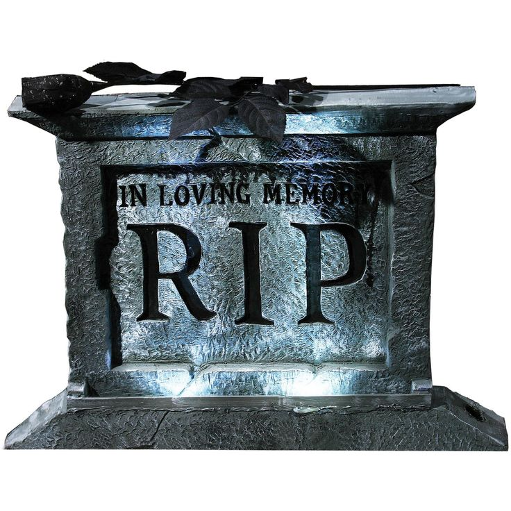 tombstone pedestal 22 w rose - Outside Decorations For Halloween