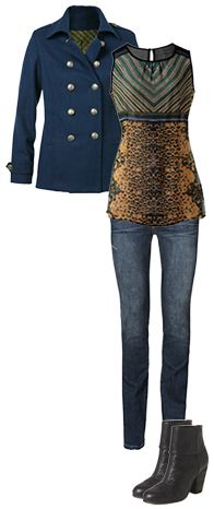 Just 15 items bring you 30 days of endless style! #CAbi Fall 2013 Indie Jean, Buchanan Tunic, and Prep School Jacket.