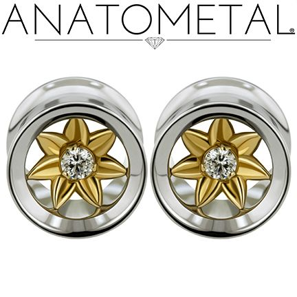 "7/16"" Standard Eyelets in ASTM F-138 stainless steel with bronze Kolo Inserts: CZ gemstones"
