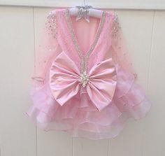 DIOR Vestido de color rosa de encaje - vestido de niña de las flores - las niñas vestido de encaje - arco grande - cumpleaños Dress - Vestido de Novia de alta costura Isabel