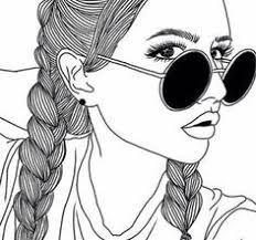 afbeeldingsresultaat voor tekeningen meisje met starbucks