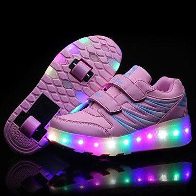 LED+Light+Up+Shoes,+Girl's+Roller+Skate+Shoes+/+Ultra-light+Two+Wheel+Skating+Shoes+/+Athletic+/+Casual+Shoes+Black+Pink+–+AUD+$+50.04