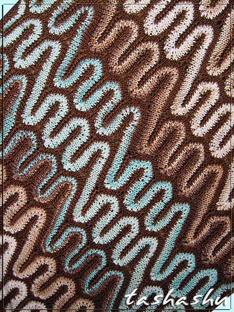 "Ravelry: Knitted Scarf ""PAMIR"" pattern by Svetlana Gordon"