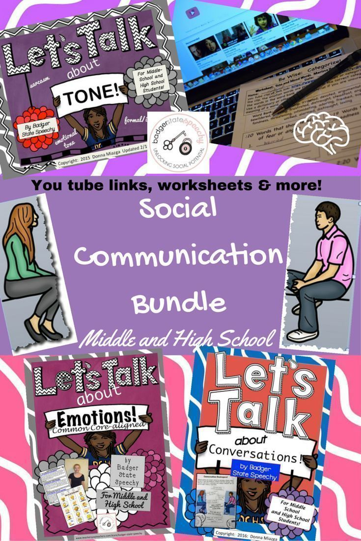 249 best social language pragmatics therapy materials ideas lets talk social communication bundle middle high school robcynllc Gallery