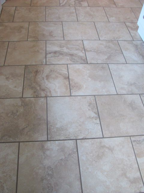 Use A Square Tile With A Brick Set Joint Pattern Bathrooms Tiles Flooring Brick Flooring