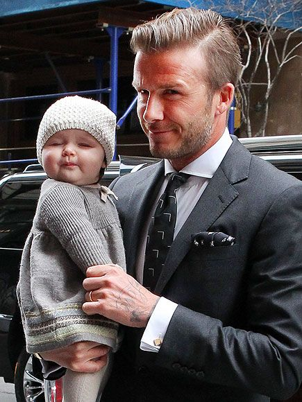 David and Harper Beckham. SO PRESH!