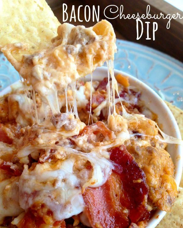 """Bacon Cheeseburger Dip Recipe - Otherwise known as """"How To Kill Your Enemies By Inviting Them To Dinner."""""""