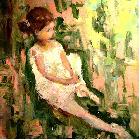 Little Ballerina in Garden Acrylic