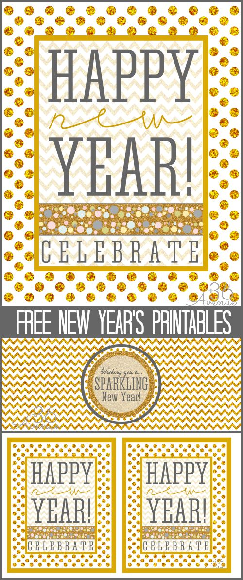 Sparkling New Years FREE Printables... FUN! #newyear #printable #party