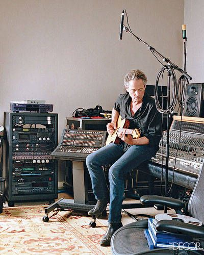Rock Star Lindsey Buckingham at Home
