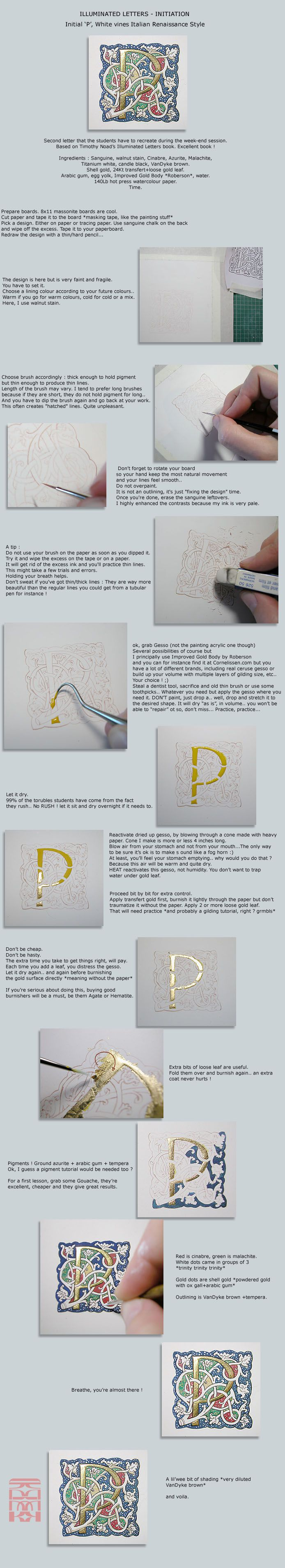 Illuminated 'P' - Tutorial   #calligraphy  #handlettering