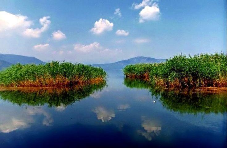 Lake Prespa, Greece, Macedonia and Albania