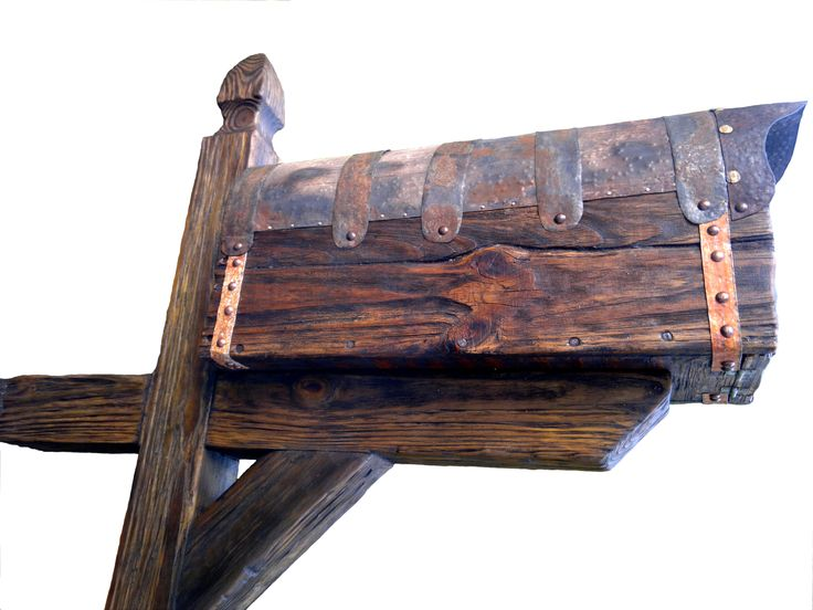 Rustic mailbox with post