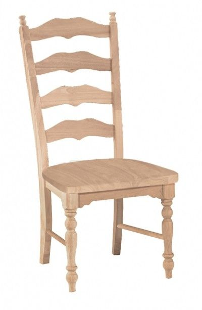Parawood Maine Ladderback Chair with wood seat RTA UNFINISHED FURNITURE    Real Solid Wood Furniture. Best 25  Unfinished furniture ideas on Pinterest   Unfinished