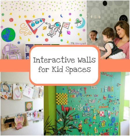 Interactive Walls for Kid Spaces #coolwalls #kidsroomideas #DIYkidspaces