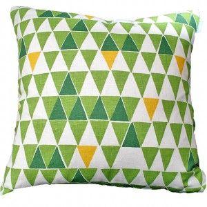 Spira Jaffa Green Swedish Cushion from hus and hem