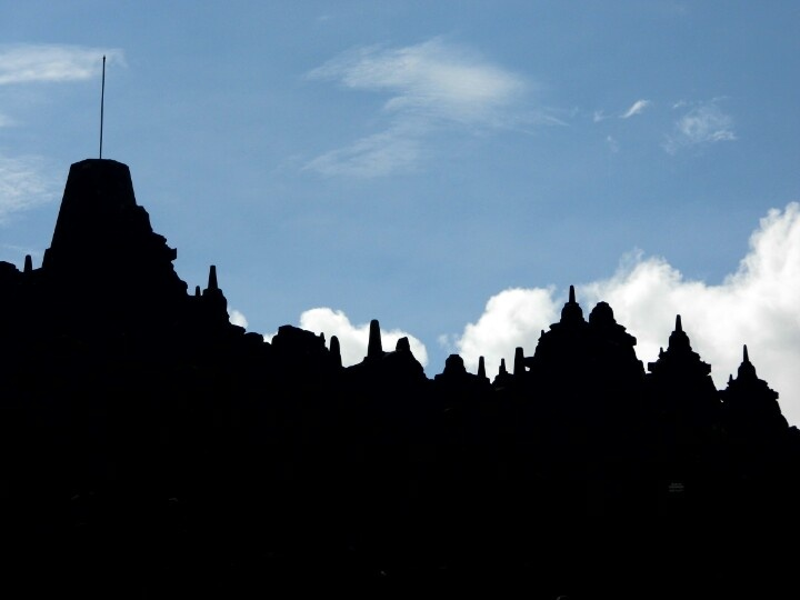 Another silhouette of Borobudur....