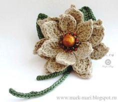 crochet flower: Crochet Flowers, Flower July, Crochet Flores, Crochet Projects, Crocheted Flowers, Июль No8, Flores Crochet, Crochet Brooch
