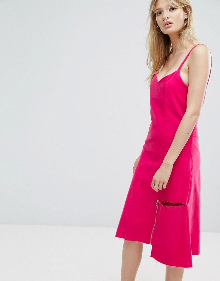 Outstanding Ordinary Midi Cami Dress - Pink