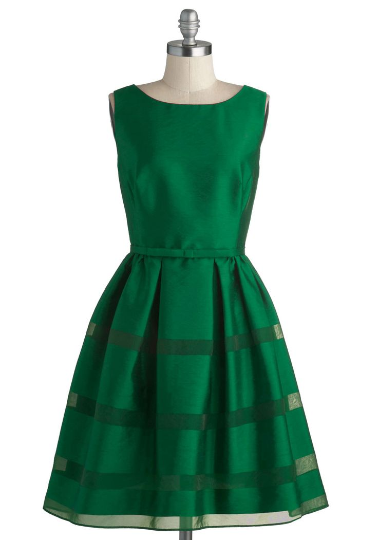 Dinner Party Darling Dress in Emerald, #ModCloth