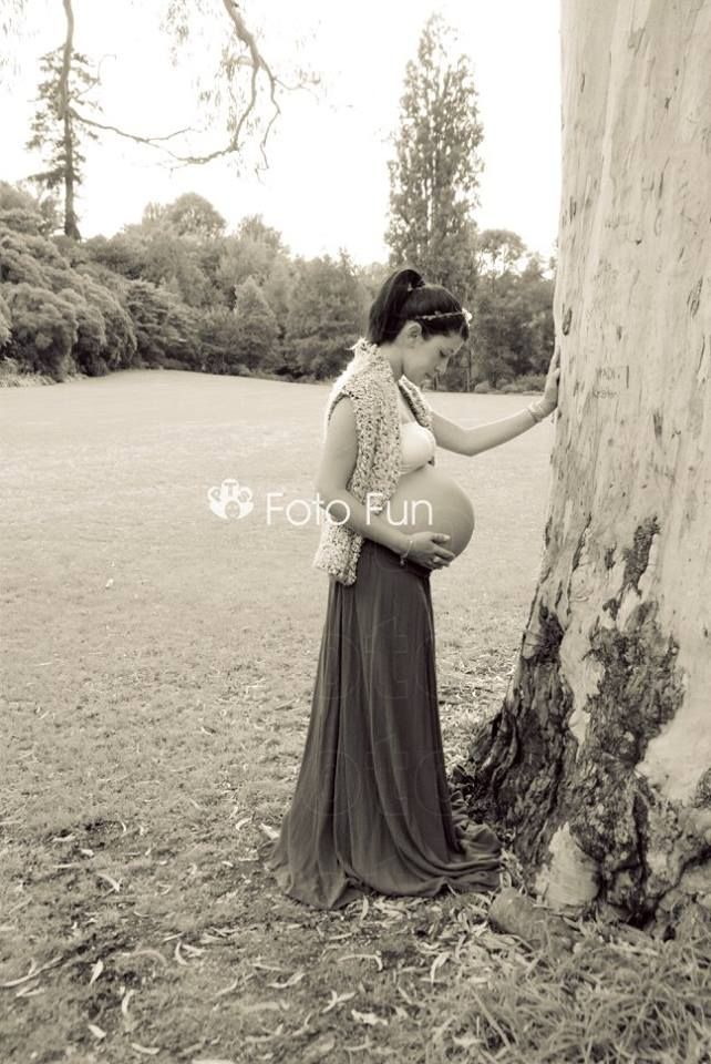 Pregnant Daniela in Enchanted forest