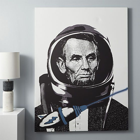 Lincoln Spaceman Print Cb2 Leasing Space Pinterest