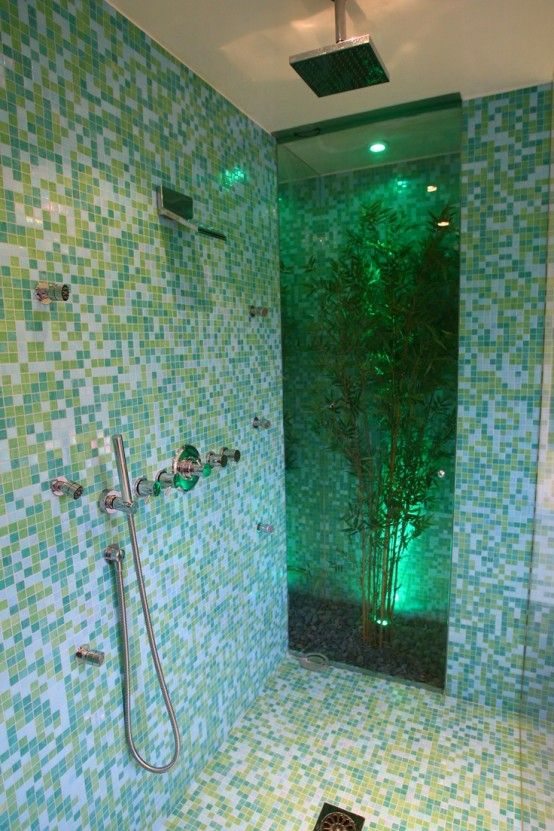 42 Inspiring Tropical Bathroom Décor Ideas Amazing With White Blue Wall Flooring And Gl Shower Plant
