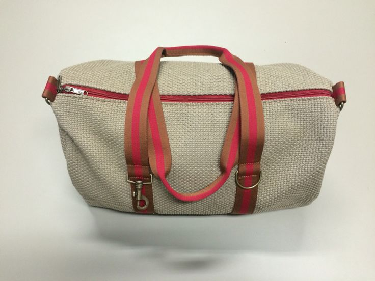 mod.23 - beige bag - bronze/dark red/bronze stripes