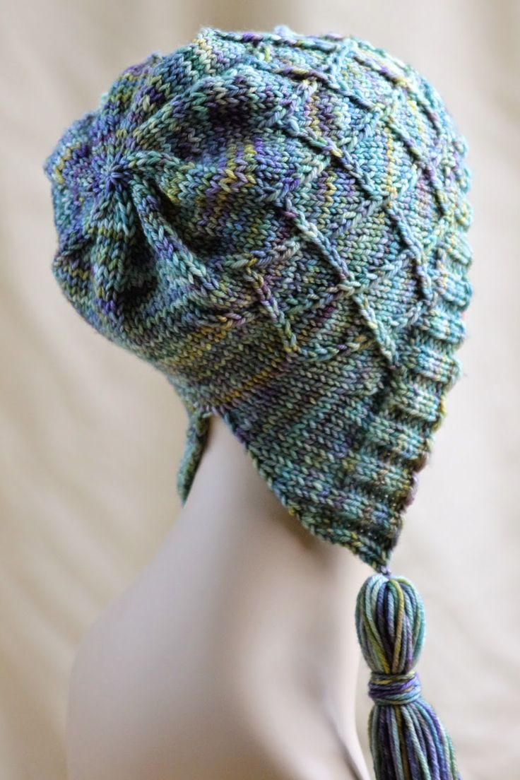 Iris Bloom Bonnet Balls to the Walls Knits, A collection of free one- and two- skein knitting patterns
