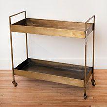 brass bar cart, vintage, furniture, north vancouver, mcm, north van, bc, handmade, shop local, home decor