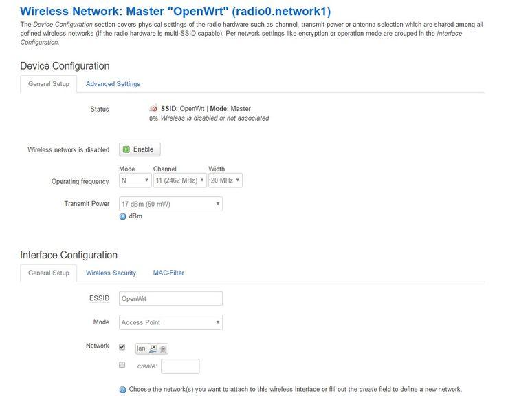 OpenWRT - ustawienia sieci Wi-Fi